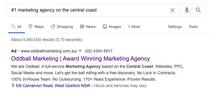 marekting agency central coast