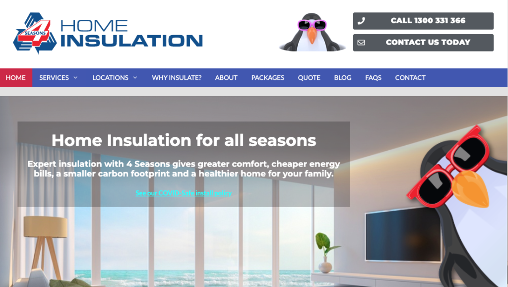 contact info website example