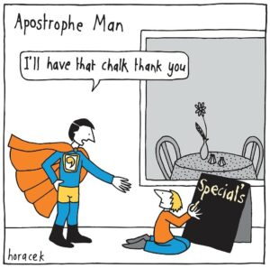 Apostrophe man is cleaning up the punctuation world